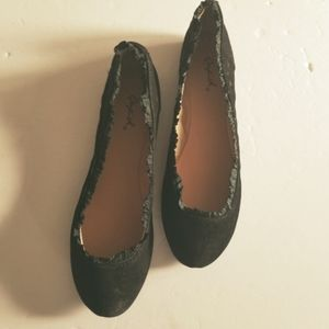 Qupid ballet flats suede fabric